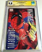 Cgc 9.8 Ss Daredevil / Spider-man 1 Signed By Tom Holland And Charlie Cox