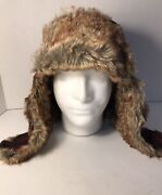 Vintage Winchester Trapper Fur Hat Flannel Red Plaid Snaps Size Xxl