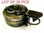 Antique Nautical Brass Collectible Marine Military Prismatic Pocket Compass Gift
