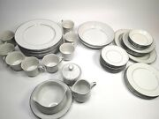 Lot Of Vintage Chadds Ford Fine China Queen's Lace Dinner Plates Cups Bowls More