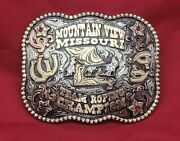 Rodeo Trophy Buckle☆1996☆ Indian Nation Oklahoma All Around Champion Vintage 707