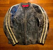 Rare Collectible 1960and039s Original Bates Steerhide Cafeand039 Racer Motorcycle Jacket
