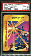 1995 Marvel Overpower Captain America Mighty Shield Pop 2 Psa 10 N2890087-198