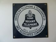 Payphone 3 Slot Pay Phone Sign Bell Systems Long Distance Antique Telephone