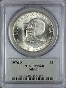 1976 S Silver Eisenhower Dollar Pcgs Ms68 - Only 2 Finer At Pcgs Each 68+