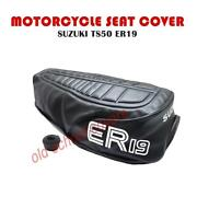 Motorcycle Seat Cover Suzuki Ts50 Er 19 Model Black Cover And Strap Ts 50 Ts50er19