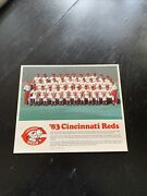 Cincinnati Reds - 1983 Team Picture - Authentic - Bench Farewell - Mlb Vintage