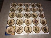 Complete Set Of 25 Hummel Annual Collection Miniature Plates - Goebel Of Germany