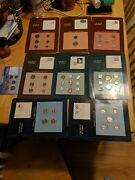 Coin Set Of All Nations 9 Piece Lot Collection Proof Sets Sealed