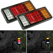 2pcs 40led Tail Lights Brake Reverse Indicator Lights Universal For Trailer Boat