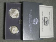 1991 Mount Rushmore Commemorative Uncirculated Silver Dollar With Box And Coa