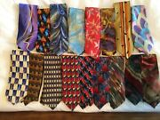 A Collection Of 17 Vintage Jerry Garcia Neckties-sold Together.