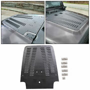 Aluminum Black Powder Coated Vented Hood Louver For 03-06 Wrangler Tj Lj
