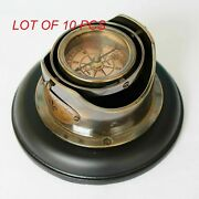 Brass Desk Compass Collectible Nautical Table Top Antique Compass Vintage Gift