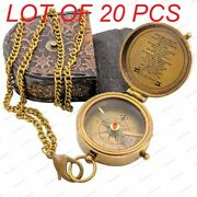 Brass Compass And Sand Timer Vintage Style Pendant Collectible Charm Pendants Gift