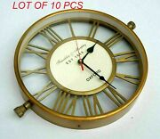 12 Handcrafted Antique Vintage Brass Wall Clock Home Decor Collectible Gift