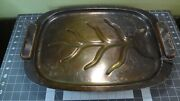 And Co. Sterling Silver Tree Platter With Wood Handles 1956-1965.