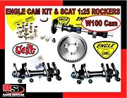 Vw Engle W100 Complete Cam Kit W/gear Lifters And Scat 125 Forged Rockers