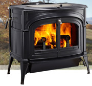 Vermont Castings Encore Wood Stove With Transition Doors - Classic Black