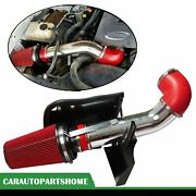 Red 4 Cold Air Intake System+heat Shield For 99-06 Gmc/chevy V8 4.8l/5.3l/6.0l