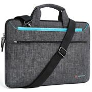 Laptop Sleeve Polyester Shockproof Water Resistant Solid Zipper Computer Bags