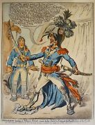 James Gillray Buonaparte Hearing Of Nelsonand039s Victory Copper Engraving 1851 Bohn