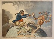 James Gillray Fighting For The Dunghill Copper Engraving 1851 Bohn