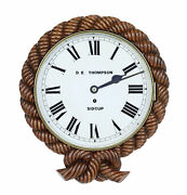 Mid 19th Century Carved Walnut Wall Clock By D.e.thompson Of Sidcup