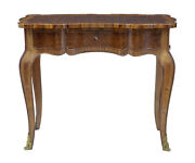 French Early 20th Century Mahogany Parquet Side Table