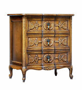 Mid 20th Century Carved Oak Small Commode