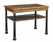 Early 20th Century Art Deco Birch Serving Table