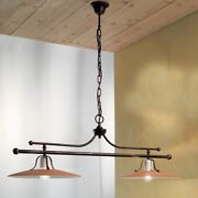 Chandelier Cooking Barbell Classic Ceramic Rust Handmade