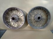 Two Early Center-lock Knock-off Italy Wire Wheels 1920-30andrsquos Alfa Romeo / Similar