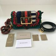 New Women Limited Edition Exotic Leather Patchwork Bag Knitted Wool