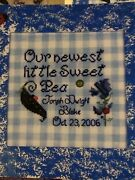 Sweet Pea Babies Counted Cross Stitch Pattern Ladybug Lane Birth Announcement