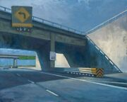 Seattle Freeway Roger Kuntz Inspired Landscape Oil Painting By Tony Peters