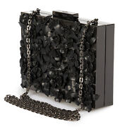Valentino Appliquandeacute Flowers Minaudiere In Black Metal
