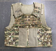 Genuine British Army Osprey Mtp Molle Plate Carrier Vest Size Large Plus