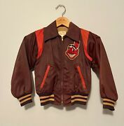 Cleveland Indians Vintage Youth Jacket Very Rare 50s 60s Richline Chief Wahoo