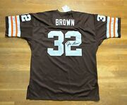 Jim Brown Mitchell And Ness 1964 Throwback Browns Jersey Sz 56 Nwt Usa Made 410
