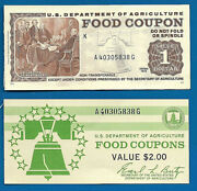 Food Stamp Coupon 1975 1.00 A40305838g Month Codes K U.s.d.a. Unc.scrip