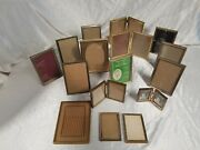 20 Vtg Gold Tone Metal Hinged Picture Photo Frame 5 X 7 And Small Mcm Shabby Chic