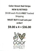 Color Street Nail Strips - 9 Each - Must Buy 4 = 36 - Free Tracked Shipping