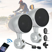 7/8and039and039 Bluetooth Speakers Stereo Audio System For Atv Utv Can Am Honda Sportsman