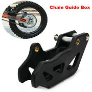 Cross Country Motorcycle Chain Guide Box Protective Anti Skid Gear Cover Black