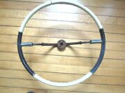 1959 Cadillac Steering Wheel, Black And White