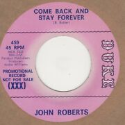 John Roberts Come Back And Stay Forever Duke Demo Soul Northern Motown