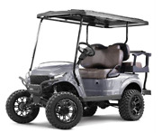 Madjax Storm Body Kit For Ezgo Txt Golf Cart - Silver Metallic - Fits 94 And Up