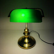 Bankers Lamp Antiques Brass Table Lamp Maritime Ship Vintage Marine 1