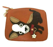 Sharif 1827 Leather Chihuahua Dog Coin Purse Pouch Clutch Id Wallet Clasp Keys
